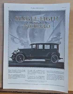 1923 magazine ad for Packard - Single Eight, connoisseur's ideal of motor car