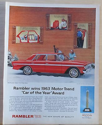 1963 magazine ad for Rambler - Motor Trend Car of the Year, Classic 770 Sedan