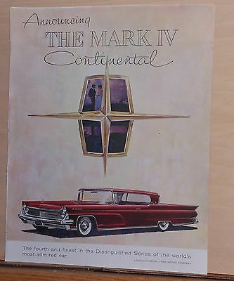 1958 magazine ad for Lincoln - red Mark IV Continental, fourth & finest