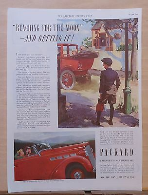 1937 magazine ad for Packard - Reaching For The Moon - Getting Packard
