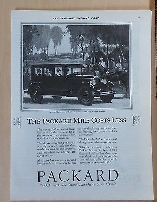 1926 magazine ad for Packard Six 5-passenger Sedan - Packard Mile Costs Less