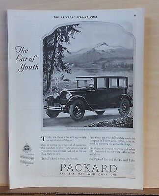 1925 magazine ad for Packard - Packard Six 5-passenger Sedan, The Car of Youth