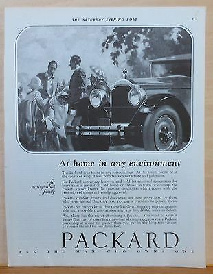 Vintage 1926 magazine ad for Packard - Packard at Home in any Environment