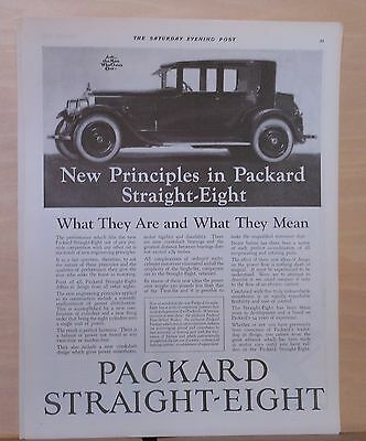 1923 magazine ad for Packard - New Principles in Packard Straight Eight