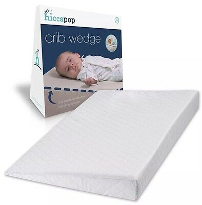 hiccapop Safe Lift Universal Crib Wedge and Sleep Positioner for Baby Mattress