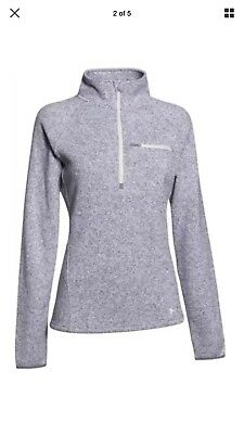 BRAND NEW WITH TAGS Under Armour Wintersweet Half-Zip Pullover Gray Heather
