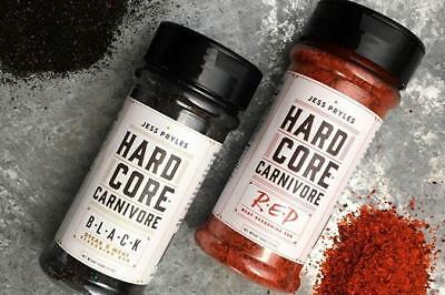 BBQ RUB - Hardcore Carnivore Black AND Red by Jess Pryles - FREE POST!