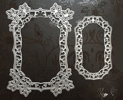 NEW ✿ Nesting Lace Flower Leaves Frame Die ✿ 2 Dies For Cuttlebug & Sizzix ✿