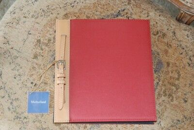 New Mulholland brothers red brown leather photo album NWT