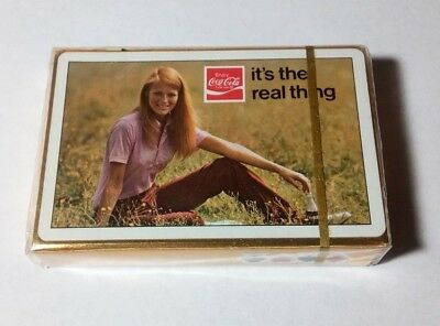 "1971 Coca Cola ""It's The Real Thing"" Playing Cards Sealed Brown & Bigelow"
