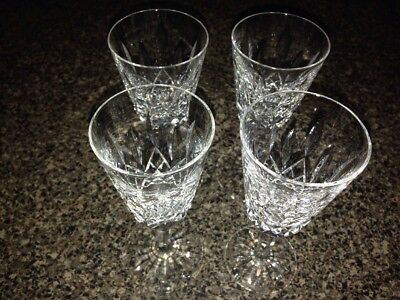 Waterford Crystal Lismore Sherry Glasses set of 4