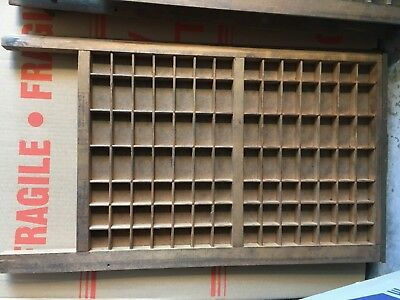 1xVintage Printers Tray Letterpress Shadow Box Art Display - GREAT for kids room