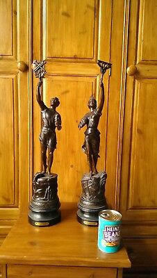 art deco spelter statues would make a great addition to a art deco home