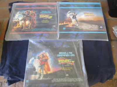 Back To The Future 1, 2 And 3 - Ntsc Laserdiscs