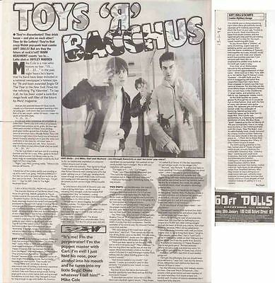 60FT DOLLS : CUTTINGS COLLECTION -interview advert-