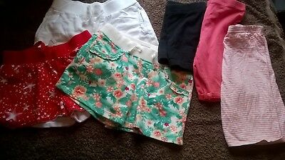 Girls Shorts Age 5-6 Summer x 8 in total