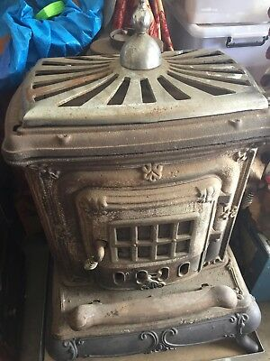 Antique Cast Iron Stove - Fireplace Rare Find