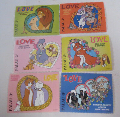 DISNEY STAMPS - Collectable - Palau 6x - Mint Condition