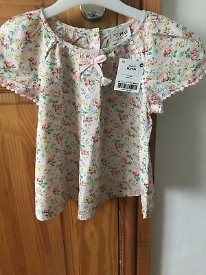 Next Girls Floral Top Age 1 1/2- 2 Bnwt