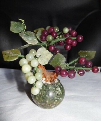 Oriental Bonsai Grape Vine Ornament On Marble Base