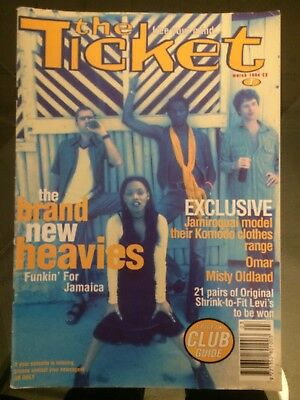 The Ticket Music Magazine. 1st edition. Acid Jazz. Rare and collectable