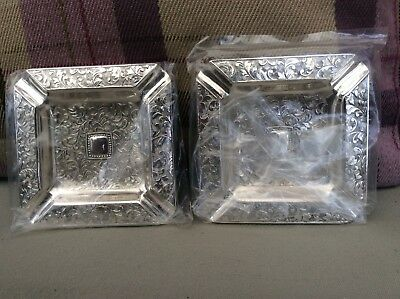 NEW Silver Plated Ashtrays X 2