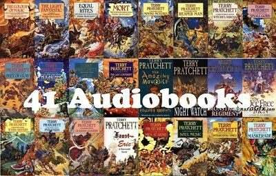 ** 41 Discworld Terry Pratchett audiobooks on DVD **