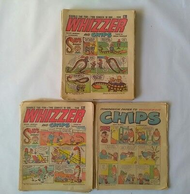 JOB LOT  of Whizzer and Chips - 1972 Fair/Good condition