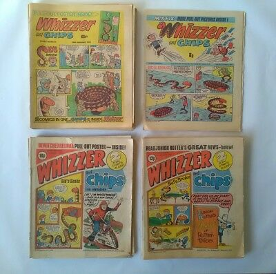 JOB LOT - 25 issues of Whizzer and Chips - 1976-1981 - Good condition