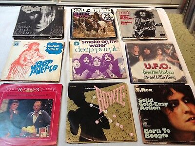 46 Singles Mit Original Cover Deep Purple Bowie TRex UFO Cher P.Gabriel Idol etc