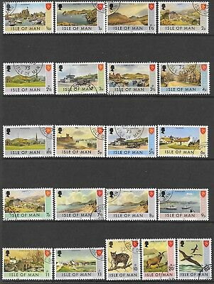 Isle of Man. Small Collection. Complete Years. 1973/1976. Used.