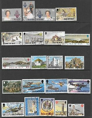 Isle of Man. Small Collection. Complete Years. 1977/1979. Used/ Few Mint.