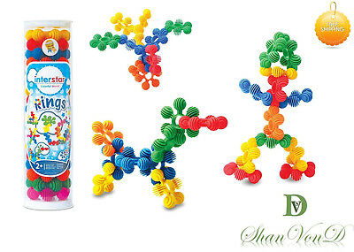Autism Calming Toys Construction Rings In a Tube 18 Piece Set Kids Building Kit