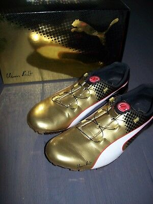 Usain Bolt Evo SPEED BOLT TRICKS Gold PUMA UK9 Gr. 43