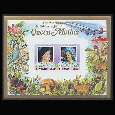 St Vincent Sc #867, Imperf, MNH, 1985, S/S, Royalty, Queen Mother,  CL049F