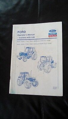 Original Ford Tractor Operators Manual For 5640 To 8340 Sl & Sle