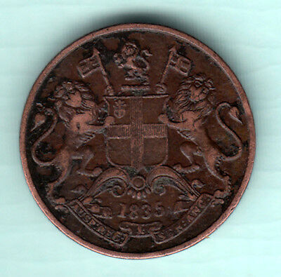 British India 1835 Extremely RARE Copper 1/4 Anna Coin East India Company 238