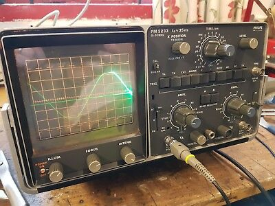 Phillips PM 3233 Oscilloscope. Used, Working Condition, Minor Mod.