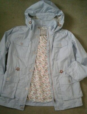 Next Girls Hooded Jacket, Light Blue, Size 13 Years