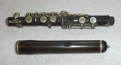 Antique Wooden Piccolo For Parts Or Restoration Project Irish Folk Spares Repair