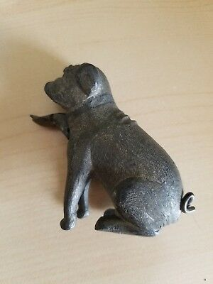 Vintage Unusual Cast Iron Metal  Bulldog