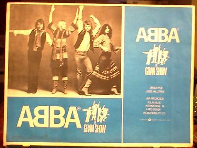 ABBA THE MOVIE, 1977, Set of 8 Original Lobby Cards, One Sheet Poster,RCA Poster