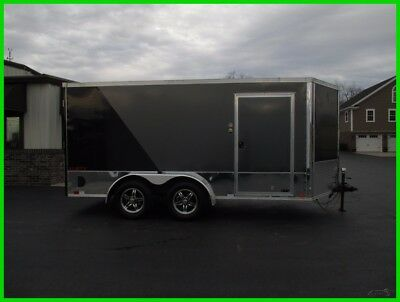 New 18 United 14' V-Nose Enclosed Motorcycle Trailer