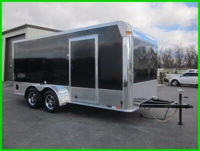 New 16 United 16' Enclosed Motorcycle Trailer w/ Cabinets