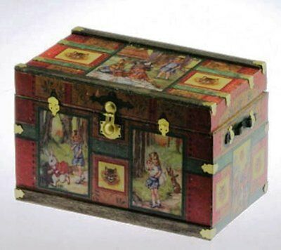 Dollhouse Miniature Trunk Kit -- Lithograph Alice in Wonderland -- 1:12 Scale
