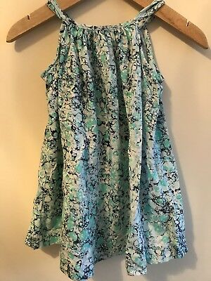 Baby Gap Girl Dress Spotty Blue & Green 12-18 Months