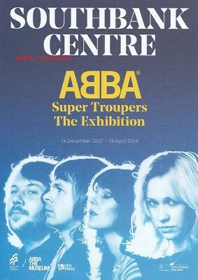 ABBA 2 Super Troupers Exhibition Flyers Promo Card *London Mamma Mia UK Fernando