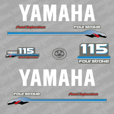 Yamaha 115 four stroke outboard 2002-2006 decal aufkleber addesivo sticker set