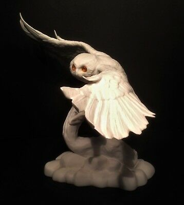 Franklin Mint1982 Porcelaine Night Sentinel Chouette Harfang Blanche Owl
