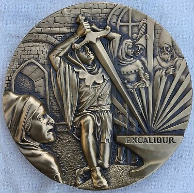 """Society of Medalists Issue No. 107, 1983 by Joseph DiLorenzo """"Camelot"""""""